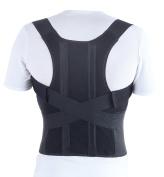 TOROS-GROUP Comfort Posture Corrector Brace/100%-Cotton Liner, Waist/Belly 100cm - 110cm , X-Large, Black