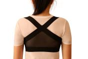 Clavicle Brace Posture Support Corrector for Men and Women Lightweight Figure 8 Shoulder Harness for Upper Back Posture Improvement Straight Back Hunchback Corrector Black Small Stealth Support