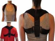 Armstrong Amerika Posture Corrector Padded Clavicle Support Shoulder Brace Help Align Poor Rounded Shoulders Correction Straighten Upper Back Slouching Corrective Neck & Thoracic Pain Relief