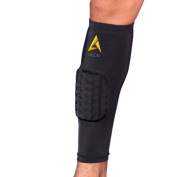 Agon Calf Compression Sleeve With Padding Brace Support Shin Guard