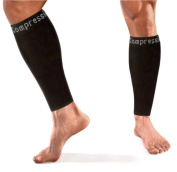 Copper Compression Calf / Shin Splint Recovery Leg Sleeves, GUARANTEED Highest Copper Content + Graduated Compression! Great For Running & All Sports!