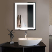 70cm x 90cm Vertical LED Bathroom Silvered Mirror with Touch Button (C-CK160-I)