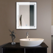 Vertical LED Lighted Vanity Bathroom Silvered Mirror with Touch Button, Make up Mirror Wall Bar Mirror (DK-OD-CK160)