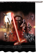 Star Wars Ep7 Poster 180cm x 180cm Fabric Shower Curtain