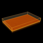 OnDisplay Electric Neon Luxe Clear Acrylic Stackable Cosmetic/Jewellery Tray - Hot Orange