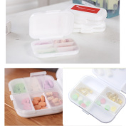 LazyMe Weekly Large Pill Container 8 Compartment Waterproof Medicine Box Lock Shut