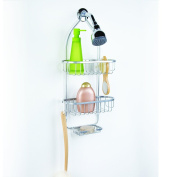 HomeCrate Over the Shower Bath Deluxe Caddy, Chrome