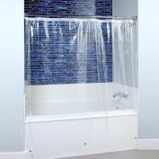 180cm x 180cm Mildew Resistant Lightweight PEVA Shower Liner with Microban in Clear