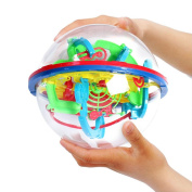 TTLIFE 3D Labyrinth Magic Rolling Globe Ball Puzzle Cubes Brain Teaser Game Sphere Maze