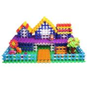 klikko Educational Toys Brain Flakes 500 Piece Interlocking Plastic Disc Set Building Blocks Educational Toys | Safe Materials Stem Toy and Heartfelt Gifts | Gears! Starter Building Set.