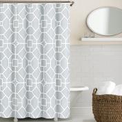 Echelon Home Gramercy Shower Curtain, Soft Blue