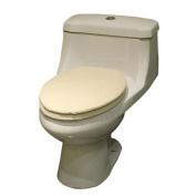Qianle Soft Thick Cotton Blend Toilet Seat Cover Toilet Tank Cover Bathroom Decor Beige
