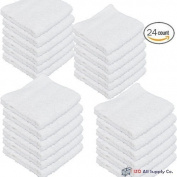 IZO 30cm -by-30cm Cotton Washcloths - 24 Count