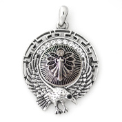 Lovmoment Eagle Shape Pendant and 18MM Snap Button Chunk Charm Jewellery