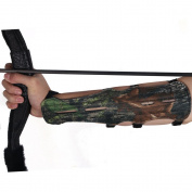 Toparchery Archery Arm Guard Adjustable 4strap Ultra Long 30cm Protector Camouflage