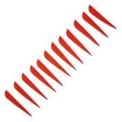 Safari Choice Arrow Fletching 7.6cm Plastic Vane, 15pc pack