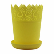 Colourful Flower Planter Tray Home Decor Crown Lace Plastic Flowerpot Resin Po...