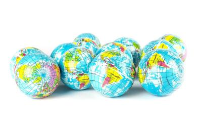 Globe Squeeze Stress Balls Earth Ball Stress Relief Toys Therapeutic Educational Balls Bulk 1 Dozen 7.6cm Stress Balls