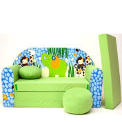 Mini Couch Sofa Seat Cushion Mattress Soft Suede Baby Sofa Set Assorted Colours