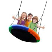 Blue island Tree Swing-Children's Outdoor Large Size 100cm Diameter Durable Swing-Easy Installation