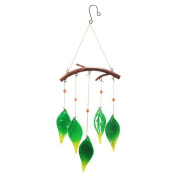 Art Deco Home - Decorative hanging Mobile with crystal leaves 54 cm