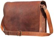 AANAND Leather Laptop Messenger Briefcase Crossover Shoulder Bag 28cm