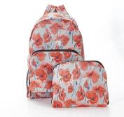 Folding Backpack Travel Bag Poppy Print