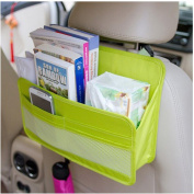 Ourkosmos® Car Back Seat Organiser Cover Protector and Storage Bag File Magazine Document Organiser Hanging Bag