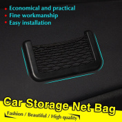Vycloud(TM) New Black Car Net Organiser Pockets Car Storage Net 15X8cm Automotive Bag Box Adhesive Visor Car Bag For Tools Mobile Phone75