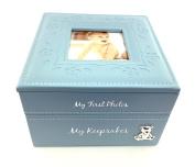 Baby Boy Keepsake & Photo Box Gift New