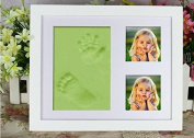 TLB baby handprint and footprint pictures Baby Keepsake Preserves Priceless Memories,Non Toxic and Safe Clay ,Quality Wood Frame with Safe Acrylic Glass