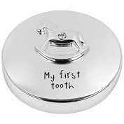Silver Plated First Tooth Rocking Horse Keep Sake