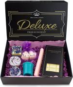 BRUBAKER Bath Melt Gift Set 'Deluxe Lavender' Vegan and Handmade