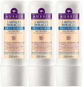 3 x 250ml Aussie 3 Minute Miracle Frizz Remedy for Frizzy Hair