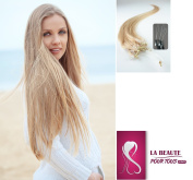 The Cold Beauty For All 100 Natural Hair Extensions 5 A Grade A Loop System 51 cm + 1 Free Pen