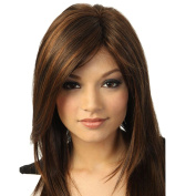 Bluelans® Dark Brown Wigs -Natural, Fashionable and Heat Resistant Long Straight Wigs, High Quality Wig