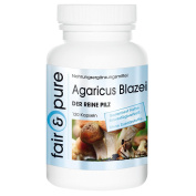 Agaricus Blazei 650mg - The Pure Mushroom (ABM, Agaricus Blazei Murill) - In Pure Form - No Additives or Excipients - 120 Vegetarian Capsules
