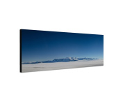 Wall Picture on canvas 120 x 40 cm Panorama in Chile Ice Field Mountains Snow Ice Sky