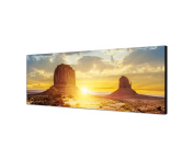 Monument Valley Sunset 120 x 40 cm Wall Canvas Picture Panorama in USA Natural