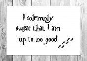 I Solemnly Swear... - Harry Potter - Marauders Map - Poster/Art Print - Unframed Print