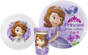 Zak! Designs Mealtime Set with Plate, Bowl and Tumbler featuring Sofia the First, Break-resistant and BPA-free plastic, 3 Piece Set