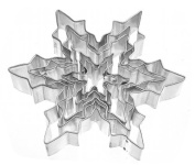 Stainless Steel Snowflake Cookie Cutters- Set of 5