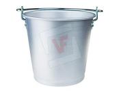 Pentole Agnelli fama8012 Milk Bucket with Handle, Aluminium, Silver