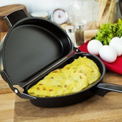 Olayer Non stick Omelette Maker Egg Pan Poacher Cookware Stove-top Family Kitchen Tool Use