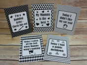 Alternative Baby Milestone Cards Monochrome