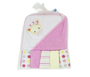First Steps Animal Hooded Baby Towel wih Five Wash Cloths
