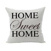 Nunubee Super Soft Pillowcase Cotton Cushion Cover Square Decorative Home Accessories Black Words 3
