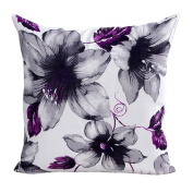 Xinantime Cotton Linen Square Throw Pillow Case Decorative Cushion Cover Pillowcase Flower 46cm X18 ""