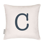 Classic Linen Alphabet Cushion - Letter C - Choice Of Letter - - Designed, Printed & Handmade in the UK
