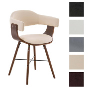 CLP Waiting Room Chair BARRIE V2, walnut with Armrests, Wonderful Design and Robust cream
